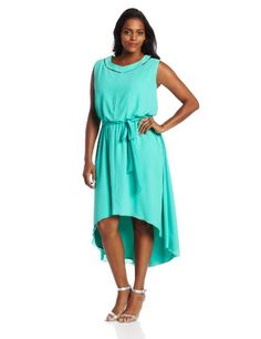 #saucy Jessica Simpson Women's Plus-Size Peekaboo Dress