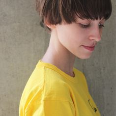 Short Hair Cuts, Short Hair Styles, Bowl Cut, Bob Hairstyles, Haircuts, Color Lines, Girl Next Door, Grow Hair, Hair Designs