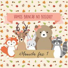 Nenhum texto alternativo automático disponível. Woodland Theme, Woodland Baby, Fox Party, Animal Art Prints, Baby Art, Baby Decor, Baby Birthday, Party Time, Place Card Holders