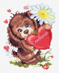 Cross Stitch Kit With Love art. Cross Stitch Rose, Cross Stitch Kits, Dee Dee, Cotton Thread, Cotton Fabric, Rainbow Unicorn, Beautiful Roses, Love Art, Giraffe