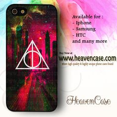 Deathly Hallows Dark City Pink Nebula available For Iphone 4/4s/5/5s/5c case , Samsung Galaxy S3/S4/S5/S3 mini/S4 Mini/Note 2/Note 3 case , HTC One X , HTC One M7 case , HTC One M8 case and many more , check our website www.heavencase.com