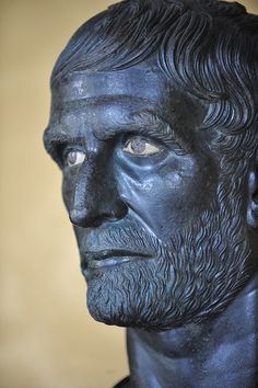 Capitoline Museum Lucius Junius Brutus founder of the Republic detail by Brian Topp, via Flickr
