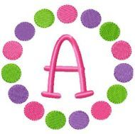 Free Embroidery Design: Mulit Circles Font Frame - I Sew Free Machine Embroidery Projects, Embroidery Software, Machine Embroidery Applique, Free Machine Embroidery Designs, Applique Designs Free, Embroidery Monogram, Embroidery Fonts, Crewel Embroidery, Embroidery Ideas