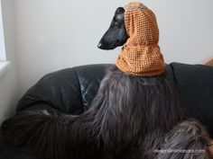 Beautiful snoods on beautiful Afghan Hound. Modelling and wearing proud :) Handmade by www.alkhabara.com