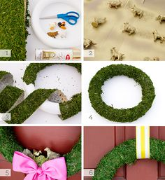 spring grass wreath