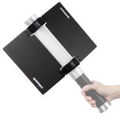Pergear lightmate s 480 led video light sunshade barn door barndoor pergear barn door for handheld light video camera light stick tube light 22cm 87 eventshaper