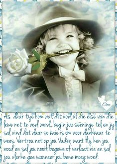 Goeie More, Good Morning Wishes, Afrikaans, Positive Thoughts, Spirituality, Bible, Positivity, Ministry, Baby Knitting
