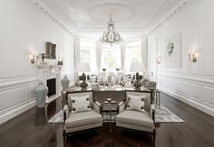 Formal living space - Beautiful luxury conversion from 1508 Interior Designers in Belgravia, London. Featured on www.MartynWhiteDesigns.com