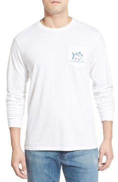 Southern Tide 'Skelejack' Long Sleeve Graphic T-Shirt