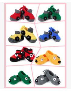 Artesanal carro bebê recém-nascido infantil meninos meninas Crochet Knit berço calçados JF020(China (Mainland))