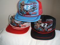 Richard Petty #43 STP Collector's set of 3 mesh trucker ballcap w/free shipping