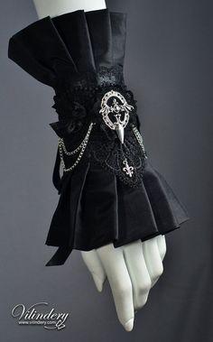 Beautiful Goth Victorian Cuff Bracelet Lolita Vampire by Vilindery