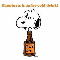 Happiness is an ice cold drink.