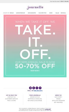 Journelle - Too good to be true. Now 50-70% off our SEMI-ANNUAL SALE!