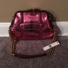 """NWT Marc Jacobs Little Stam Bag!! So Cute!! Pink alligator print Marc Jacobs Little Stam bag!! 1000% authentic!! A few of the scales have some minor """"peeling up"""" from the bag, but nothing serious, and it was like that when purchased. Gold hardware. Dust bag included. I bought this at a sample sale in Soho, NYC a little while ago and have just never used it. It kills me to sell it, but I need to do some spring cleaning. Please feel free to ask me any questions!! Marc Jacobs Bags Mini Bags"""