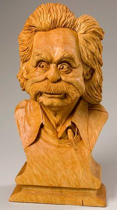 Carved Wood Bust by Bruce Henn - entered in the 2007 Competition Artistry In Wood at Dayton Carvers