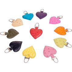 Ostrich Leather Heart Charm by Ostrich 2 Love