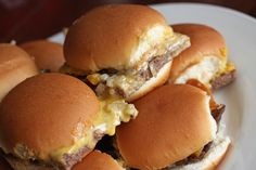 Our Version of White Castle Sliders...for a late night snack!.... Soo making this for my hubby!