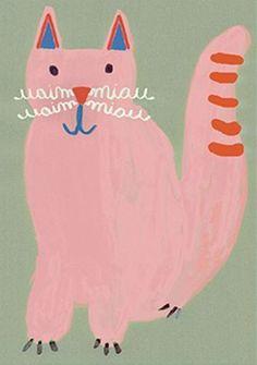 Brazilian illustrator Jana Glatt 's 'O n o m a t o p e i a' are simple, fun illustrations of animal language. It always intrigu...