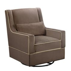 found it at wayfair baby relax sydney swivel glider in dark sand http - Stork Craft Hoop Glider