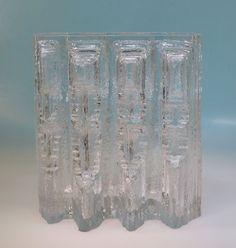 Rosenthal massive Struktur Vase 70er Jahre Entwurf Martin Freyer, bezeichnet
