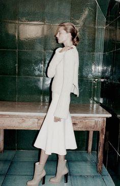 Green tiles Céline Fall/Winter 13.14 (Ad Campaign)Photographer: Juergen Teller