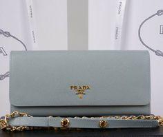 Prada Saffiano Flap Wallet 1M1290 Grey