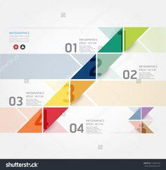 Plantilla Con Diseño Moderno Estilo Minimalista Infografía / Se Puede Utilizar Para La Infografía / Banners Numerados / Líneas Horizontales De Corte / Gráfico O Diseño Web Vector - 141801829 : Shutterstock