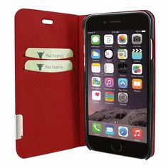 5050ae69a46 Piel Frama iPhone 7 / 8 FramaSlimCards Leather Case - Red Cowskin-Crocodile