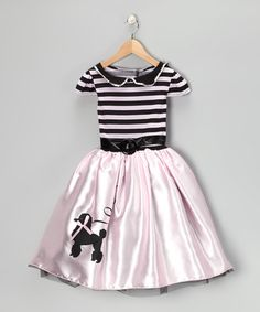 Take a look at this Story Book Wishes Pink Poodle Dress - Toddler & Girls by Sock Hop Style: Apparel & Shoes on today! Dress Up Outfits, Dress Up Costumes, Kids Outfits, Costume Ideas, Poodle Dress, Pink Poodle, Poodle Skirts, Toddler Girl Dresses, Girls Dresses