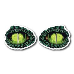 Monster Eyes Vinyl Sticker Eye Stickers, Clear Stickers, Monster Stickers, Monster Eyes, Sticker Bomb, White Ink, Mockup, Colorful Backgrounds, Nova