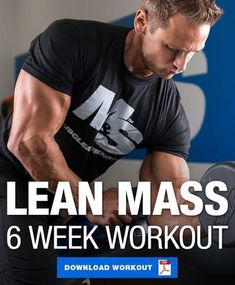 fitness The most common goal in the gym is to build lean muscle. Give this 6 week workout program to build lean muscle a try and absolutely crush that goal! Muscle Mass Workout, Lean Body Workouts, Weight Training Workouts, Muscle Building Workouts, Muscle Fitness, Gain Muscle, Hitt Training, Muscle Workouts, Build Muscle Mass