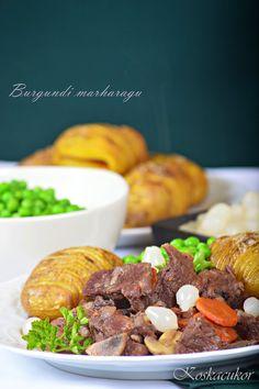 Koskacukor: Burgundi marharagu Favorite Recipes, Beef, Meals, Food, Meat, Meal, Essen, Yemek, Yemek