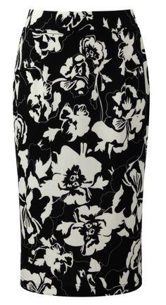 Damart printed milano skirt, ref code B415. www.damart.co.uk