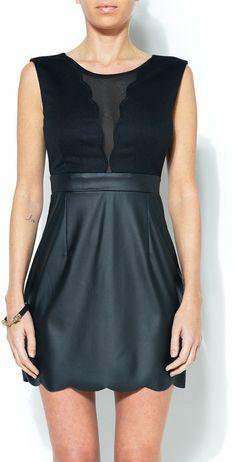 Zinga Scalloped Little BlackDress on shopstyle.com