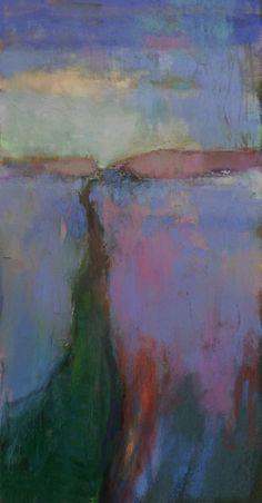 "Late Winter. 2017. Pastel, Dry Ground, Oil & Graphite. 15.25"" x 8."" Casey Klahn."