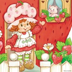 Strawberry Shortcake Characters, Vintage Strawberry Shortcake Dolls, Childhood Friends, Childhood Memories, Apple City, Dibujos Cute, Rainbow Brite, Holly Hobbie, Coloring Book Pages