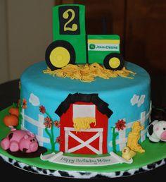 Miller Birthday Tractor Farm Farmer Birthday Party, Farm Birthday Cakes, Tractor Birthday, Happy 2nd Birthday, 2nd Birthday Parties, Boy Birthday, Birthday Ideas, Cupcake Cakes, Cupcake Ideas