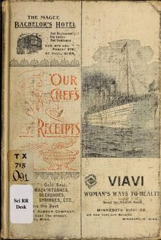 1899 176pp Our chef's best receipts; a practical cook book...
