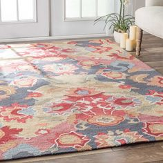 Maastricht Red & Blue Area Rug