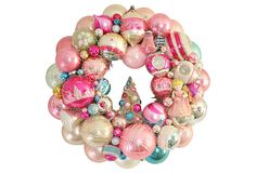 Elegant Country Christmas - Holiday   Wreath   w/ Ornaments