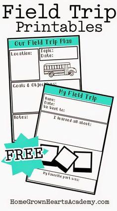 FREE Field Trip Printables - Homeschool Giveaways