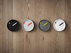 The wall clock is available in four colour combinations. #rosendahl #rosendahltimepieces #picto