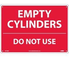 EMPTY CYLINDERS DO NOT USE, 10X14, Rigid Plastic