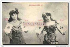 CPA Cartomancie Voyance Folklore Langage des As