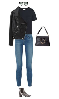 """Untitled #633"" by amyjonez on Polyvore featuring Frame Denim, L'Agence, Acne Studios, Isabel Marant, CÉLINE and J.W. Anderson"