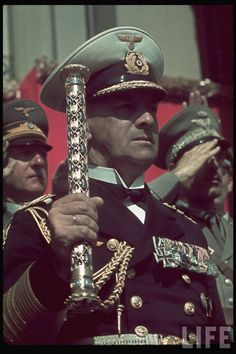 Heldengedenktag. Erich Raeder on Reichs Veterans Day in Kassel, Germany, 4 June 1939. Field Marshal Salute