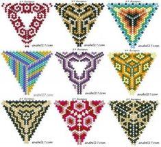 Peyote Power Triangle stitch and bead overlay drawn by Dustin Wedekind, 2010 - Salvabrani