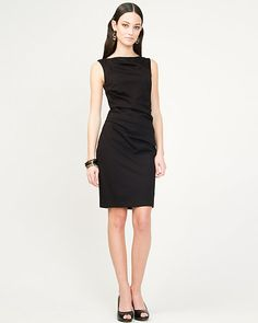 Ponte Knit Shift Dress @Andrea Adams this looks like money...I could wear this :P