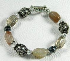 Smokey crystals bracelet - SOLD!!